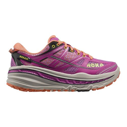 Womens Hoka One One Stinson 3 ATR Trail Running Shoe - Fuchsia/Coral 5