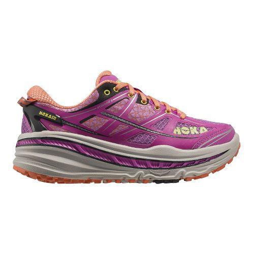 Womens Hoka One One Stinson 3 ATR Trail Running Shoe - Fuchsia/Coral 6
