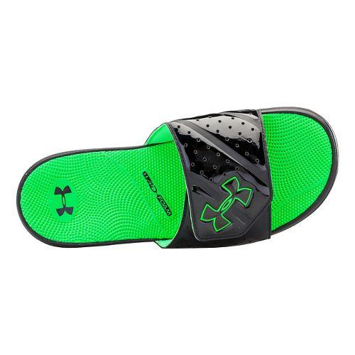 Mens Under Armour Micro G EV II SL Sandals Shoe - Black/Green 9