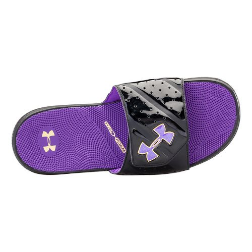 Mens Under Armour Micro G EV II SL Sandals Shoe - Black/Purple 6