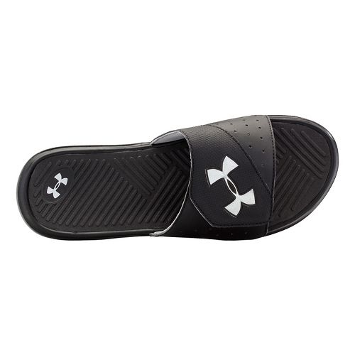 Mens Under Armour Playmaker V SL Sandals Shoe - Black/Silver 10