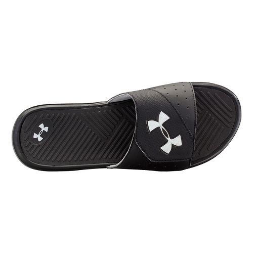 Mens Under Armour Playmaker V SL Sandals Shoe - White/Blue 9