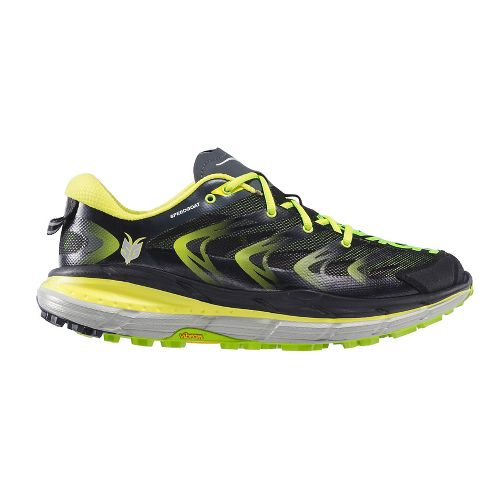 Mens Hoka One One Speedgoat Trail Running Shoe - Green/Black 10.5