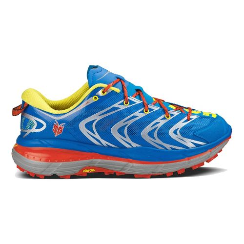 Mens Hoka One One Speedgoat Trail Running Shoe - Blue/Red 8