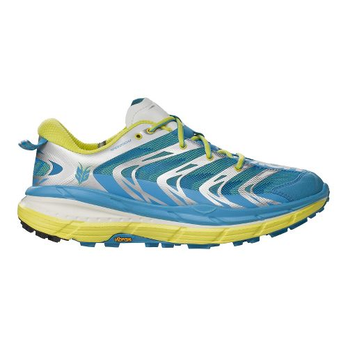 Mens Hoka One One Speedgoat Trail Running Shoe - Cyan/Citrus 7.5