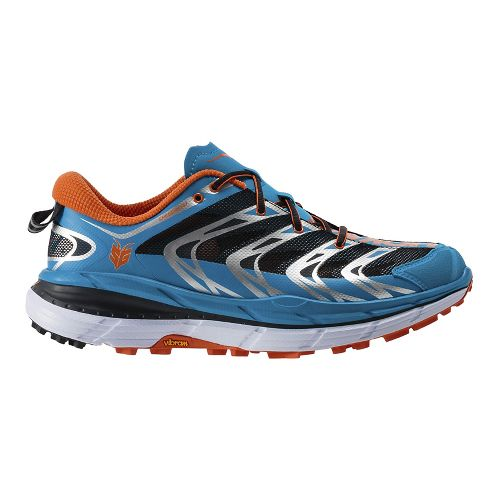 Mens Hoka One One Speedgoat Trail Running Shoe - Blue/Orange 7.5