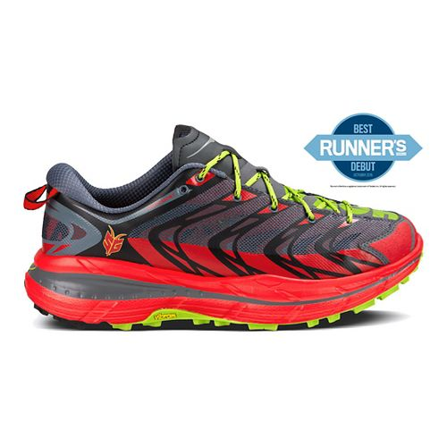 Mens Hoka One One Speedgoat Trail Running Shoe - Red/Black 7