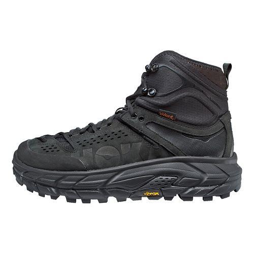 Mens Hoka One One Tor Ultra Hi WP Hiking Shoe - Black/Red 10
