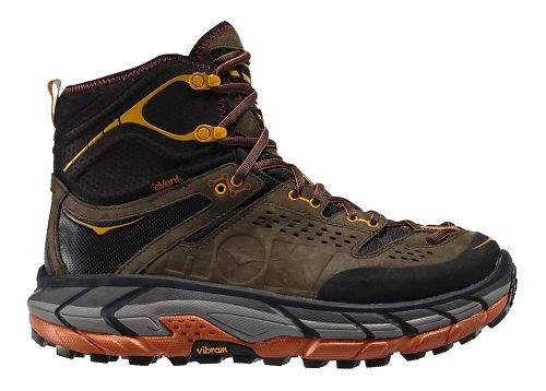 Mens Hoka One One Tor Ultra Hi WP Hiking Shoe - Black Olive/Gaze 7.5