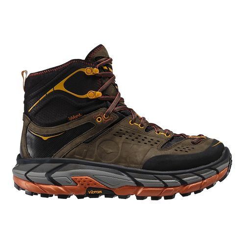 Mens Hoka One One Tor Ultra Hi WP Hiking Shoe - Black Olive/Gaze 12.5