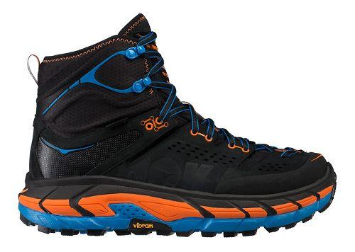 Mens Hoka One One Tor Ultra Hi WP Hiking Shoe - Black/Orange 11.5