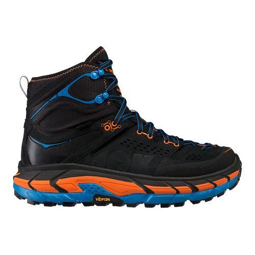Mens Hoka One One Tor Ultra Hi WP Hiking Shoe - Black/Orange 12.5