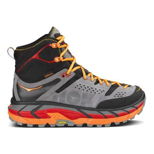 Womens Hoka One One Tor Ultra Hi WP Hiking Shoe - Black/Flame 5.5