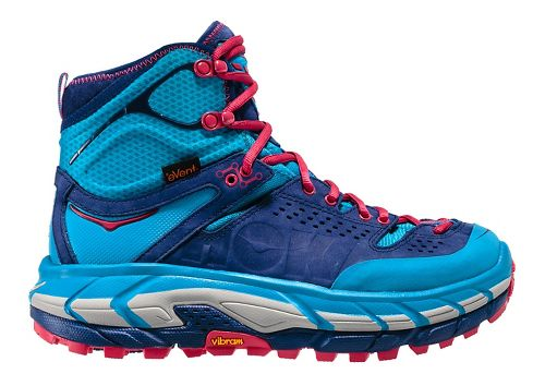 Womens Hoka One One Tor Ultra Hi WP Hiking Shoe - Blue/Medieval Blue 6