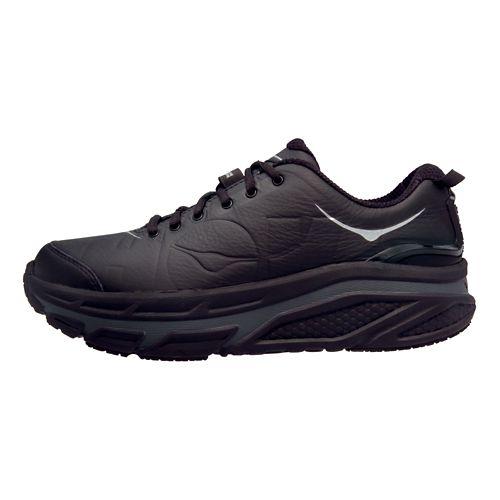 Mens Hoka One One Valor LTR Walking Shoe - Black/Black 8