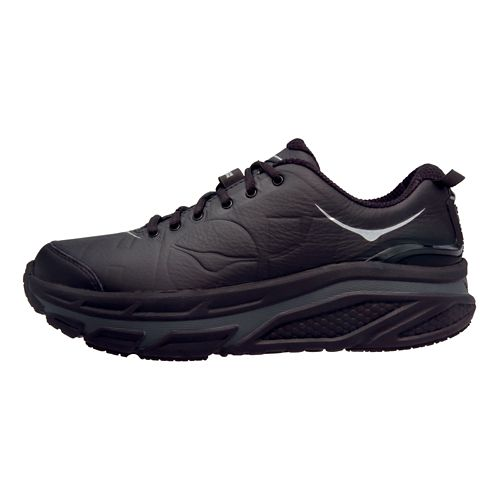 Womens Hoka One One Valor LTR Walking Shoe - Black/Black 9