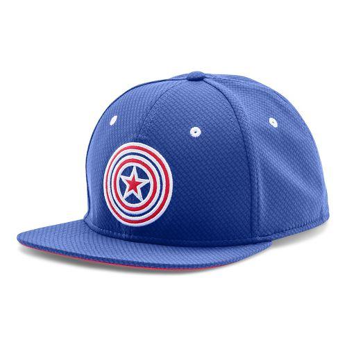Mens Under Armour Captain America Core Team Cap Headwear - Royal/Red M/L