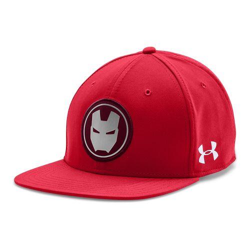 Mens Under Armour Avengers Ironman Snap Back Cap Headwear - Red/Black
