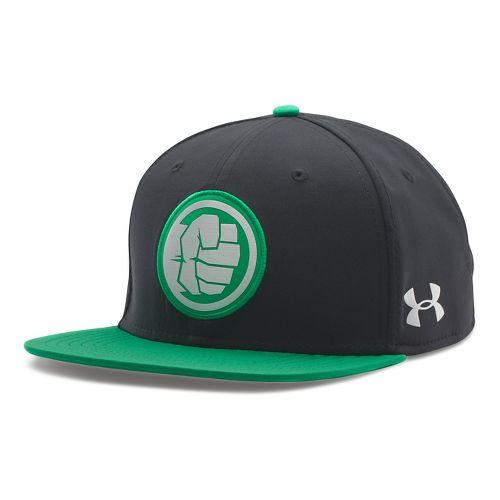 Mens Under Armour Avengers Hulk Snap Back Cap Headwear - Purple/Astro Green