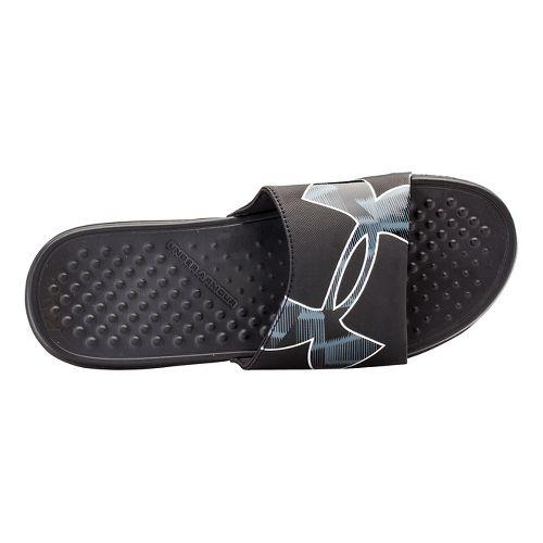 Mens Under Armour Strike Warp SL Sandals Shoe - Black/Black 10