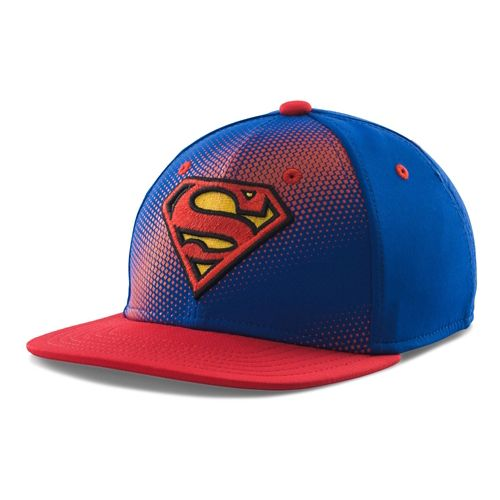 Kids Under Armour Superman Basic Stretch Fit Cap Headwear - Royal/Red S/M