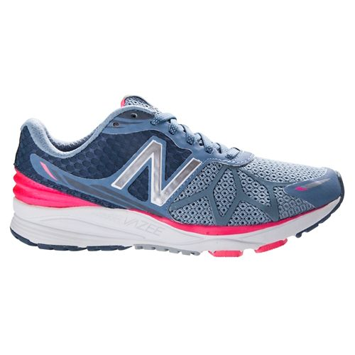 Womens New Balance Vazee Pace Running Shoe - Grey/Pink 6.5
