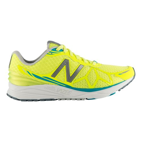 Womens New Balance Vazee Pace Running Shoe - Yellow/Blue 8.5