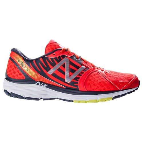 Mens New Balance 1260v5 Running Shoe - Grey/Orange 9.5