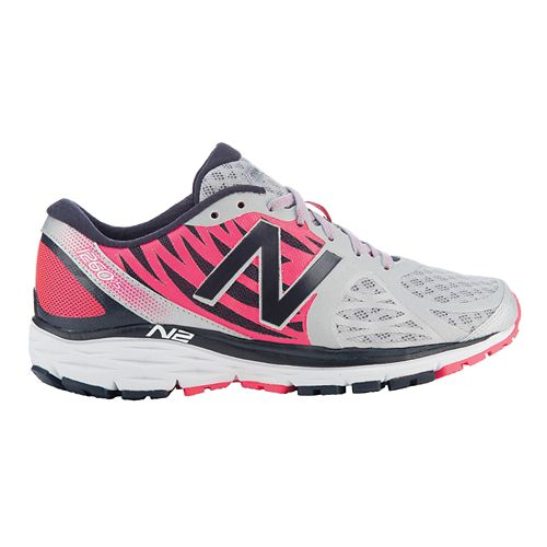 Womens New Balance 1260v5 Running Shoe - Silver/Pink 6