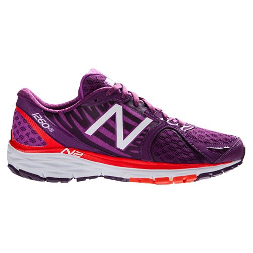 Womens New Balance 1260v5 Running Shoe - Purple/Orange 7
