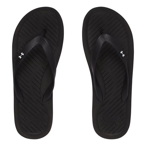 Mens Under Armour Atlantic Dune T Sandals Shoe - Black/Grey 13