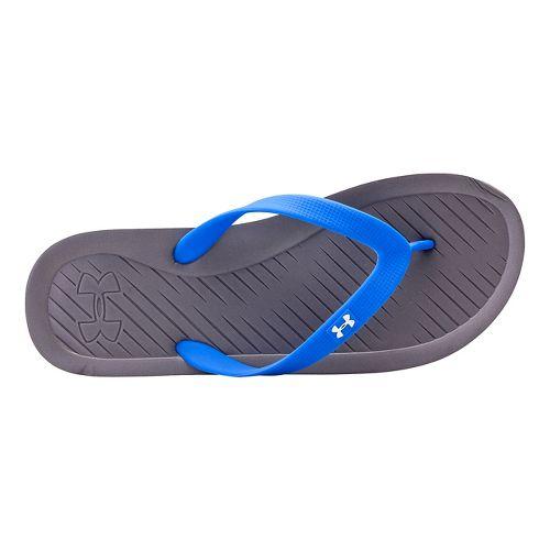 Mens Under Armour Atlantic Dune T Sandals Shoe - Graphite/Royal 12
