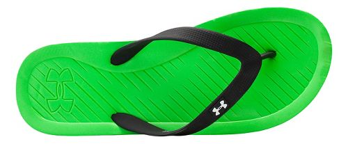 Mens Under Armour Atlantic Dune T Sandals Shoe - Green Energy/Black 9