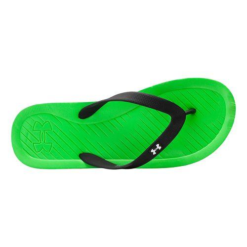 Mens Under Armour Atlantic Dune T Sandals Shoe - Green Energy/Black 10