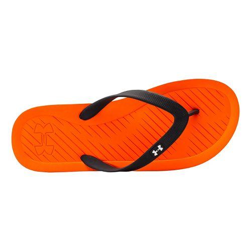 Mens Under Armour Atlantic Dune T Sandals Shoe - Orange/Black 7