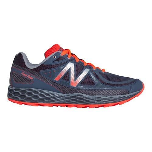 Mens New Balance Fresh Foam Hierro Trail Running Shoe - Grey/Orange 12