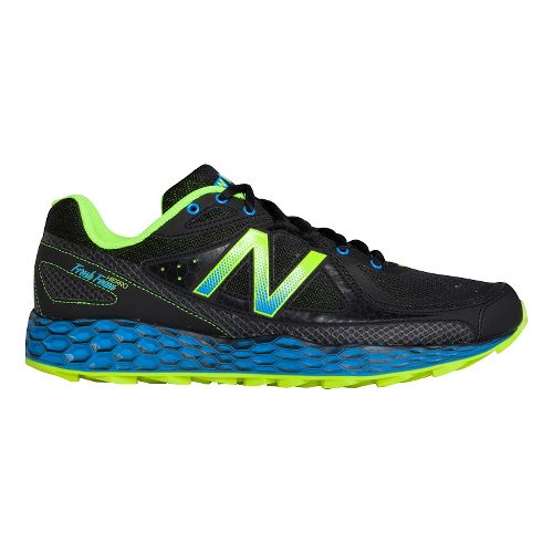 Mens New Balance Fresh Foam Hierro Trail Running Shoe - Black/Yellow 10.5