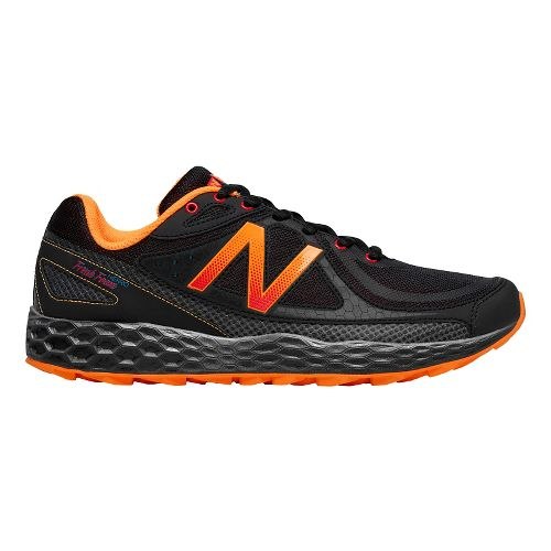 Mens New Balance Fresh Foam Hierro Trail Running Shoe - Black/Orange 7.5