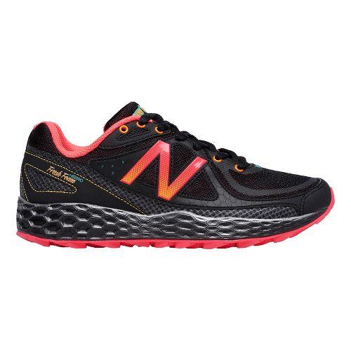 Womens New Balance Fresh Foam Hierro Trail Running Shoe - Black/Orange 11