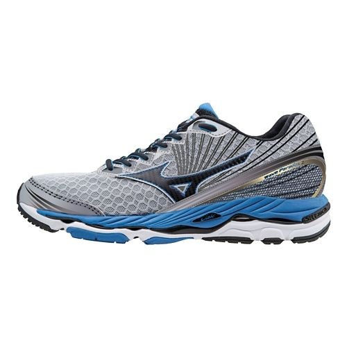 Mens Mizuno Wave Paradox 2 Running Shoe - Grey/Blue 8.5