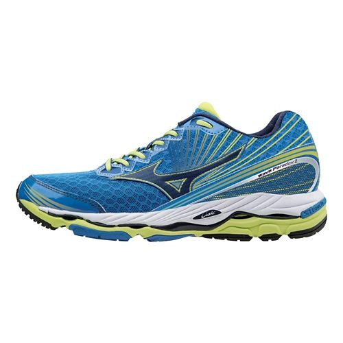 Mens Mizuno Wave Paradox 2 Running Shoe - Electric Blue/Lime 12.5