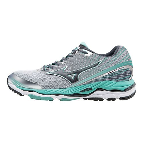 Womens Mizuno Wave Paradox 2 Running Shoe - Silver/Teal 10