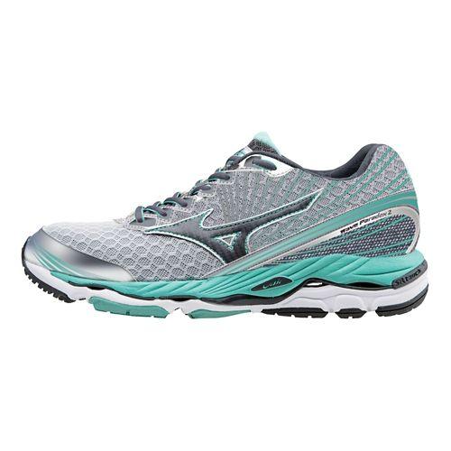 Womens Mizuno Wave Paradox 2 Running Shoe - Silver/Teal 6.5