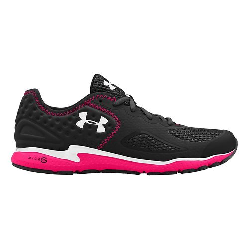 Womens Under Armour Micro G Mantis 2 Running Shoe - Black/Pink Shock 11