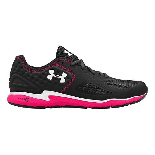 Womens Under Armour Micro G Mantis 2 Running Shoe - Black/Pink Shock 5