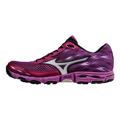 Womens Mizuno Wave Hayate 2 Trail Running Shoe - Violet/Silver 9.5