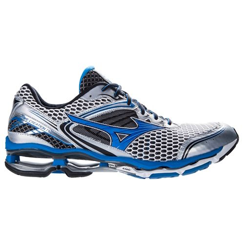 Mens Mizuno Wave Creation 17 Running Shoe - Silver/Blue 7.5