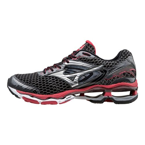Mens Mizuno Wave Creation 17 Running Shoe - Dark Shadow/Red 9.5