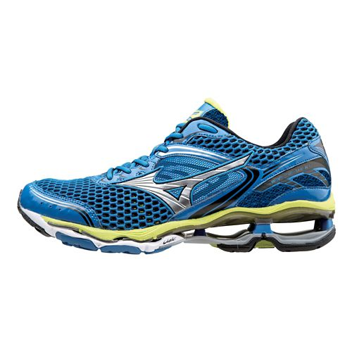 Mens Mizuno Wave Creation 17 Running Shoe - Electric Blue/Lime 11