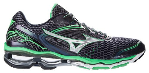 Mens Mizuno Wave Creation 17 Running Shoe - Slate/Green 8